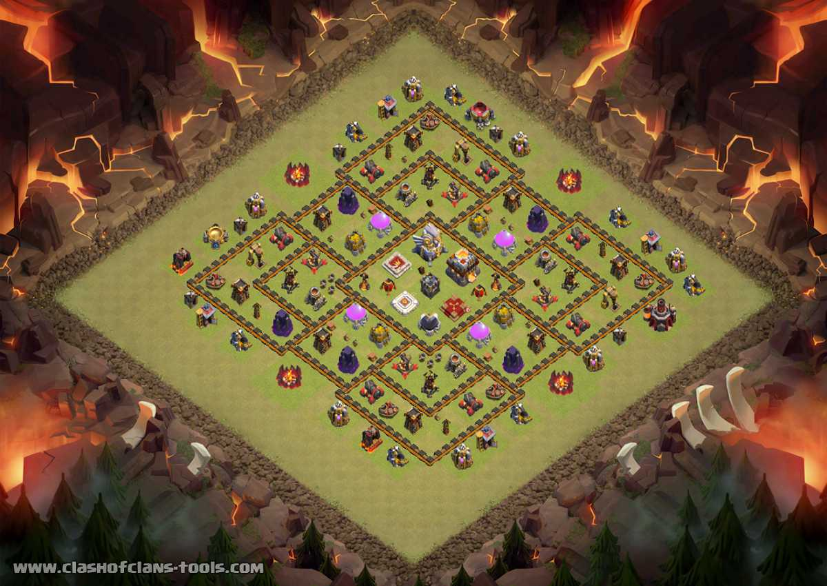 TH11 War Base Layout