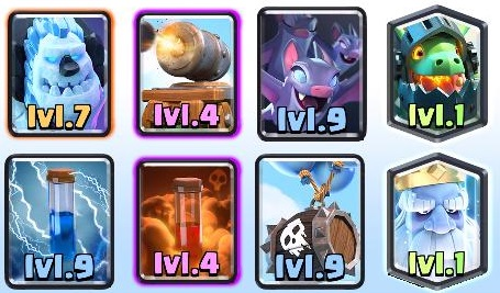 Royal Ghost Skeleton Barrel Inferno Dragon Deck 2018 Arena 9+